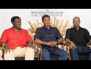 Wesley Snipes, Sylvester Stallone & Jason Statham (The Expendables 3) Interview Video Thumbnail