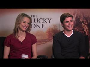 Zac Efron & Taylor Schilling (The Lucky One) Interview Video Thumbnail