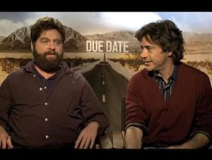 Zach Galifianakis & Robert Downey Jr. (Due Date) Interview Video Thumbnail