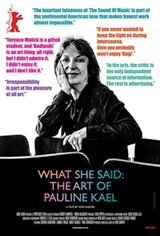 What She Said: The Art of Pauline Kael Movie Poster