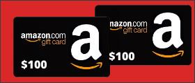 AMAZON $100 GIFT CARD Sweepstakes