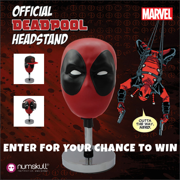 Marvel DEADPOOL official headstand sweepstakes
