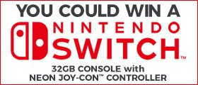 NINTENDO SWITCH 32GB CONSOLE with NEON JOY-CON CONTROLLER Sweepstakes