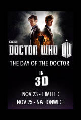 Doctor Who 50th Anniversary Special: The Day of the Doctor in 3D Movie Poster