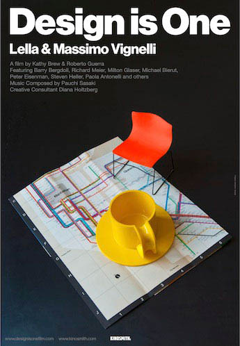 Design is One: Lella & Massimo Vignelli Large Poster