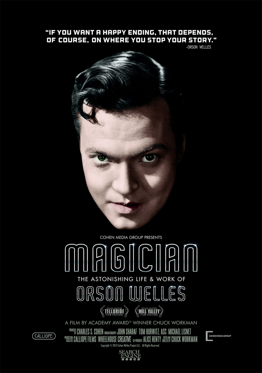 Magician: The Astonishing Life & Work of Orson Welles Large Poster