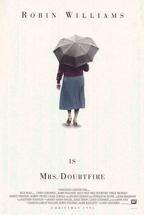 Mrs. Doubtfire Large Poster