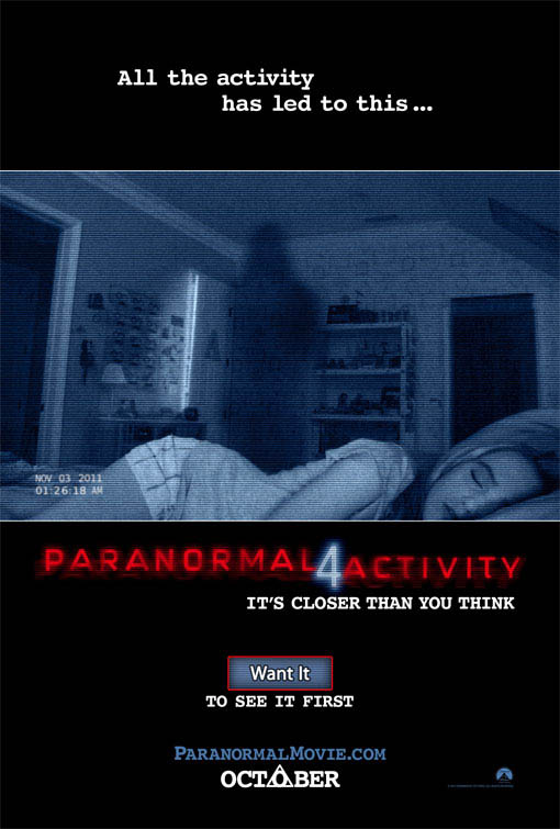 Paranormal Activity 4  Large Poster