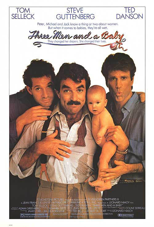Three Men and a Baby Large Poster