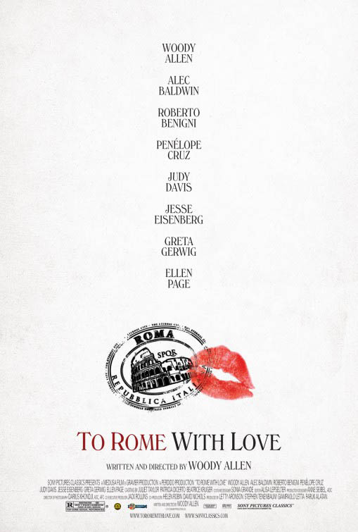 To Rome With Love Large Poster