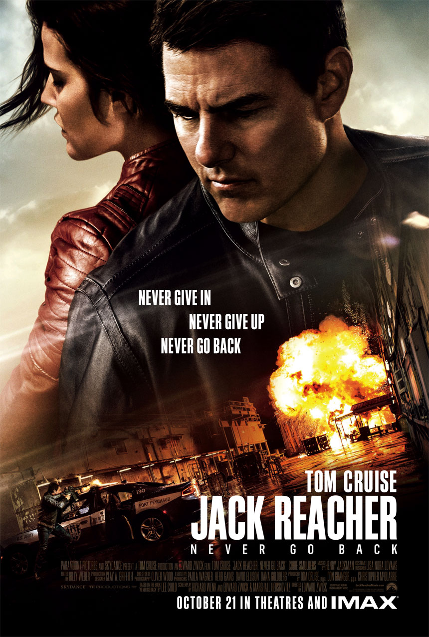 Jack Reacher: Never Go Back Large Poster