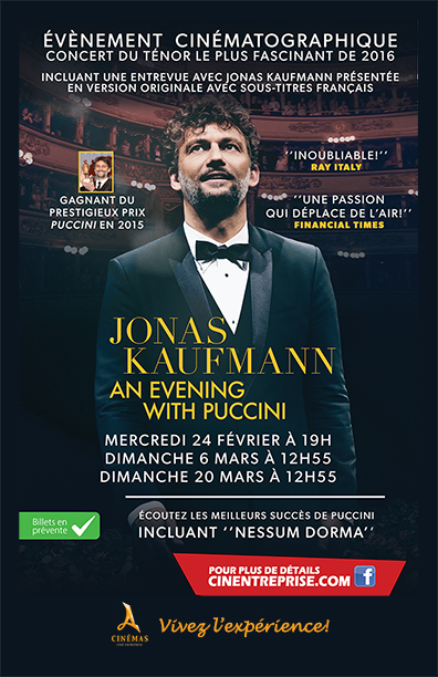 Jonas Kaufmann: An Evening with Puccini Large Poster