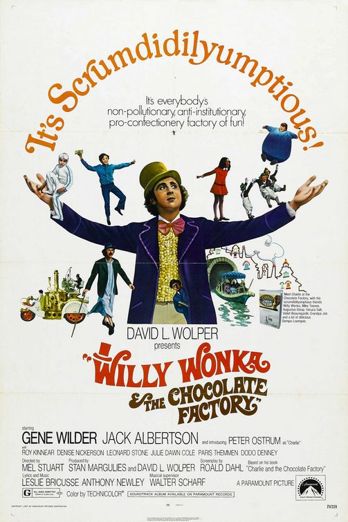 Willy Wonka And The Chocolate Factory Large Poster